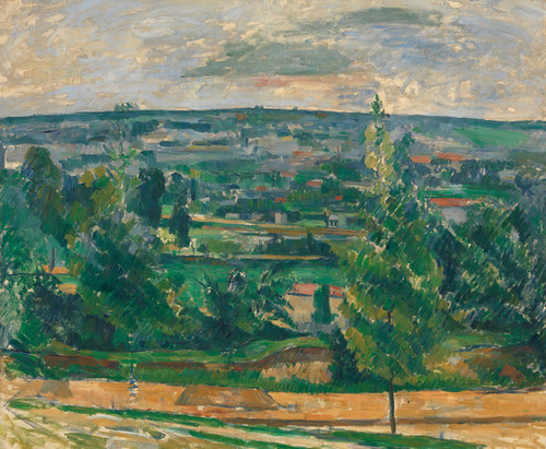 Art Prints of Landscape from Jas de Bouffan by Paul Cezanne