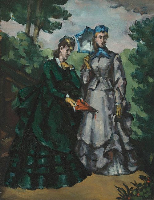 Art Prints of La Promenade or The Walk by Paul Cezanne
