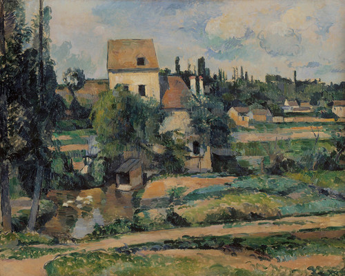 Art Prints of The Mill in the Commune of Pontoise by Paul Cezanne