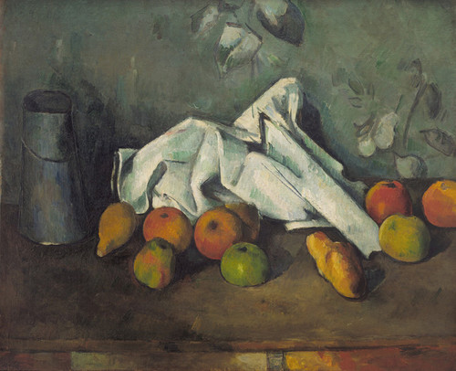 Art Prints of Milk Can and Apples by Paul Cezanne