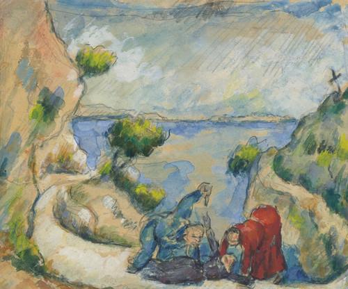 Art Prints of Murder in the Ravine by Paul Cezanne
