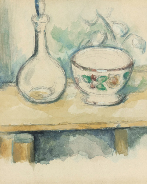 Art Prints of Pitcher and Bowl by Paul Cezanne
