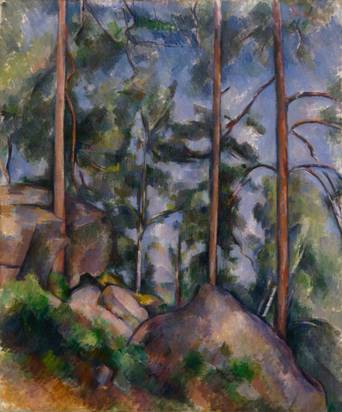 Art Prints of Pines and Rocks, Fontainebleau by Paul Cezanne