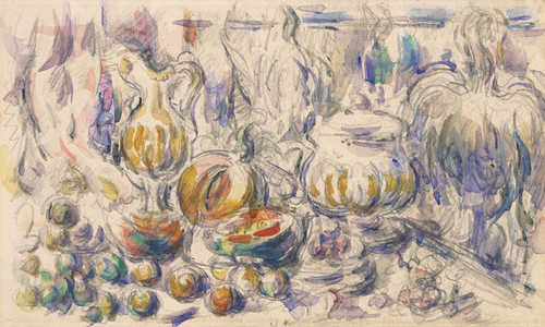 Art Prints of Pot and Soup Tureen by Paul Cezanne