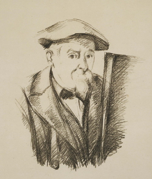 Art Prints of Drawing of a Self Portrait by Paul Cezanne