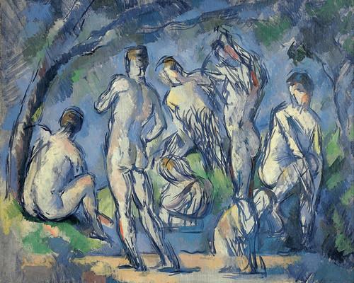 Art Prints of Seven Bathers by Paul Cezanne