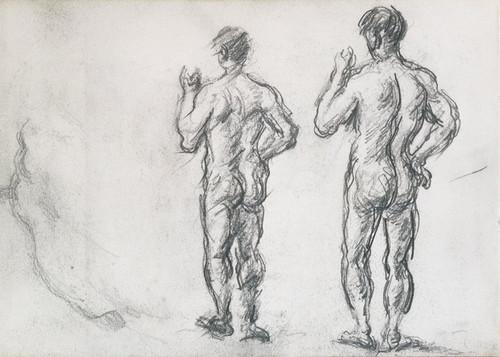 Art Prints of Standing Male Bather by Paul Cezanne