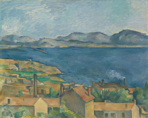 Art Prints of The Bay of Marseille seen from L'Estaque by Paul Cezanne