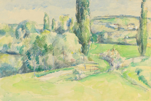 Art Prints of The Coast of Jallais Pontoise by Paul Cezanne