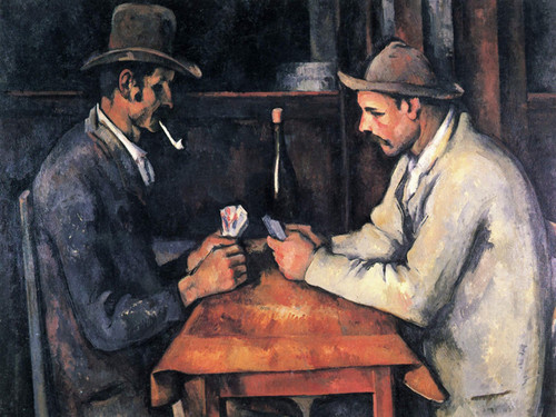 Art Prints of Two Card Players by Paul Cezanne
