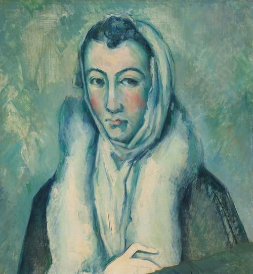 Art Prints of Woman in Hermine by Paul Cezanne