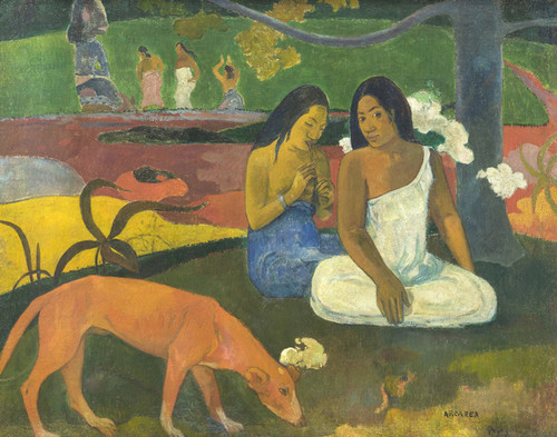 Art Prints of Arearea (also called Jokes) by Paul Gauguin