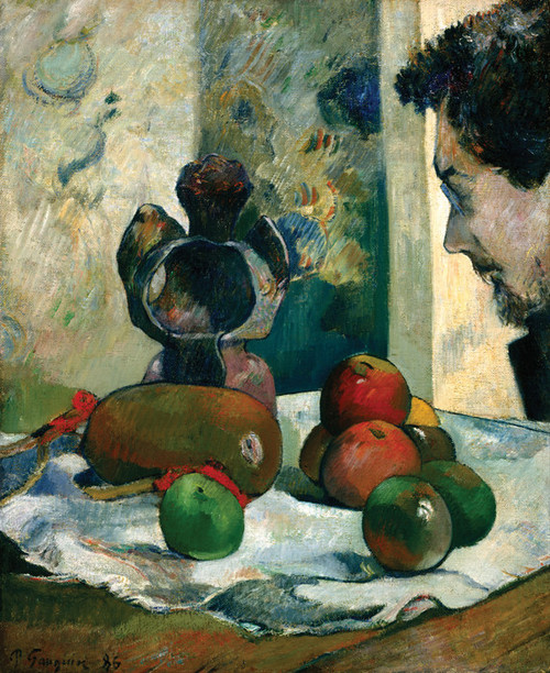 Art Prints of Still Life with Profile of Laval by Paul Gauguin