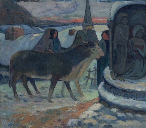Art Prints of Christmas Night, the Blessing of the Oxen by Paul Gauguin