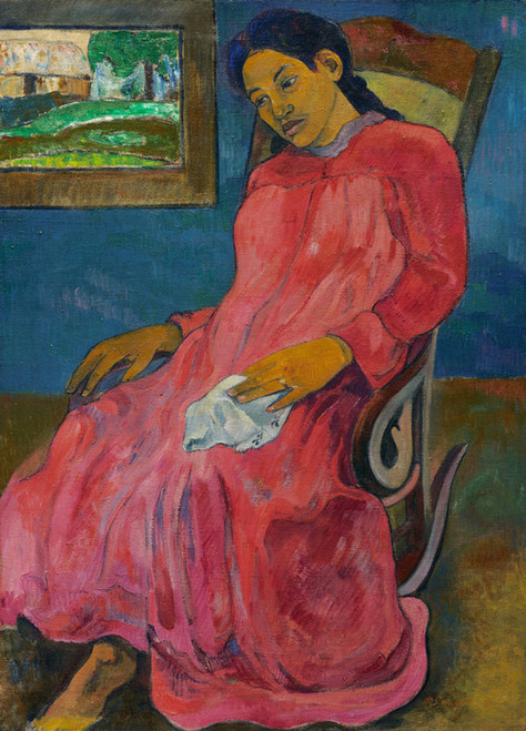 Art Prints of Faaturuma or Melancholic by Paul Gauguin