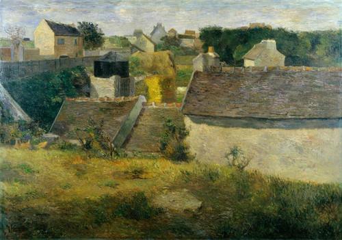 Art Prints of Houses at Vaugirard by Paul Gauguin