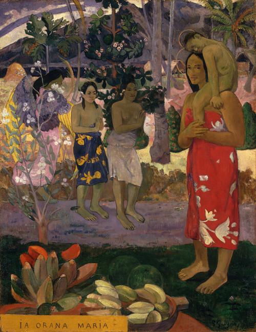 Art Prints of Ia Orana Maria (Hail Mary) by Paul Gauguin