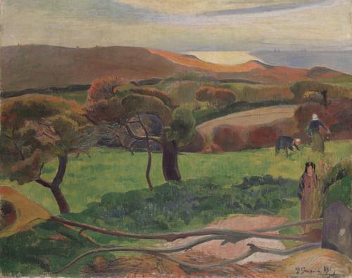 Art Prints of Landscape from Bretagne by Paul Gauguin
