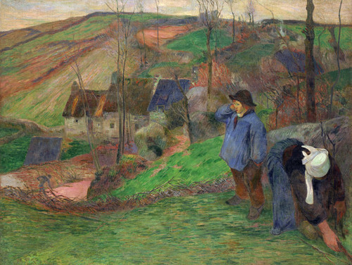 Art Prints of Landscape of Brittany by Paul Gauguin