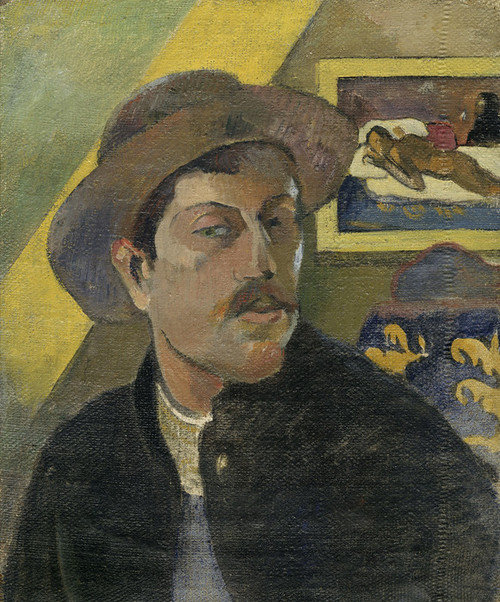 Art Prints of Self Portrait with a Hat by Paul Gauguin