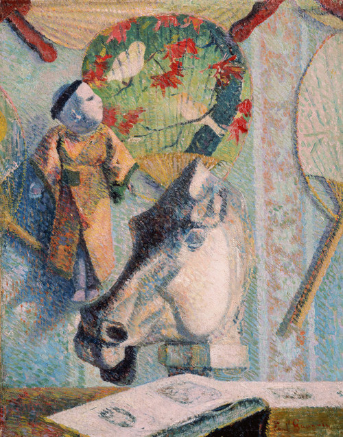 Art Prints of Still Life with Horses Head by Paul Gauguin