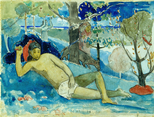 Art Prints of The Queen of Beauty or The Noble Queen by Paul Gauguin