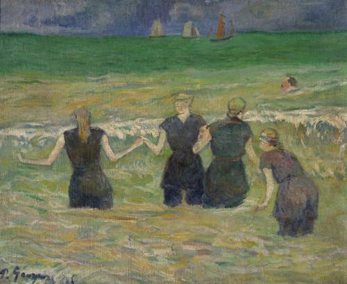 Art Prints of Women Bathing by Paul Gauguin
