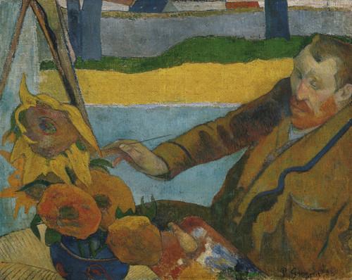 Art Prints of Vincent Van Gogh Painting Sunflowers by Paul Gauguin