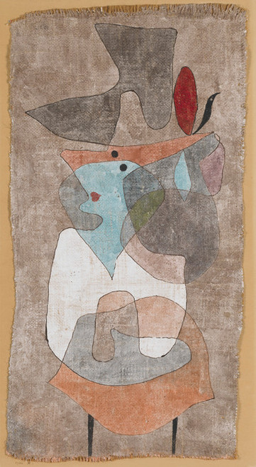 Art Prints of Hat Lady and Little Table by Paul Klee
