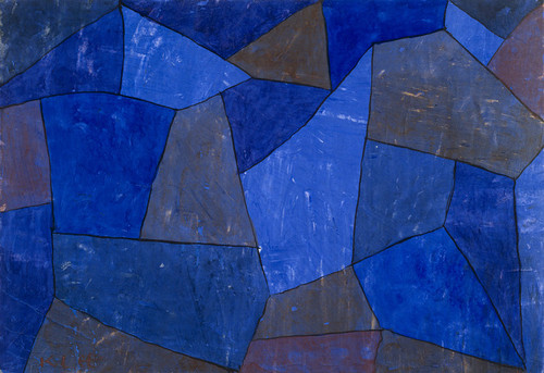 Art Prints of Rocks at Night by Paul Klee