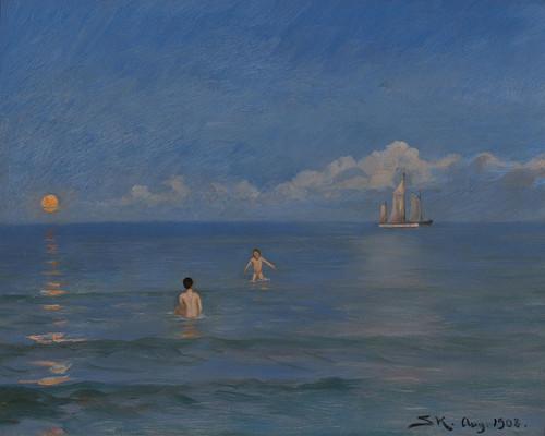 Art Prints of Boys Bathing by Peder Severin Kroyer
