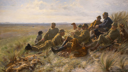 Art Prints of Hunters, Skagen by Peder Severin Kroyer