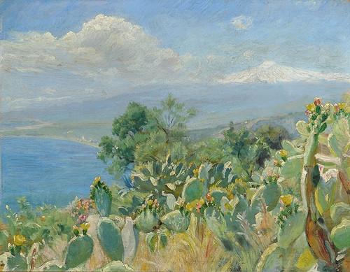 Art Prints of Flourishing Cacti Near Toarmina by Peder Severin Kroyer