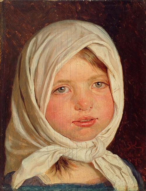 Art Prints of Little Girl from Hornbaek by Peder Severin Kroyer