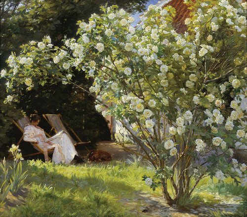 Art Prints of Marie Kroyer Seated in the Garden by Peder Severin Kroyer