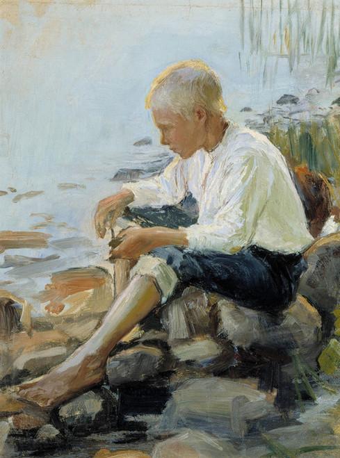 Art Prints of Boy on the Shore by Pekka Halonen