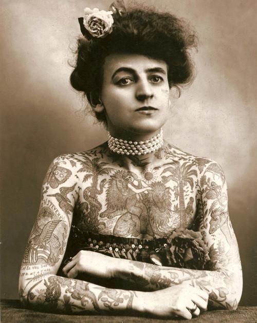 Art Prints of Maud Wagner, First Known Female U.S. Tattooist