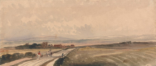 Art Prints of A Yorkshire Road by Peter De Wint