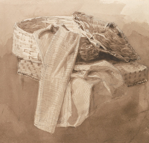 Art Prints of Still Life, Basket by Peter De Wint