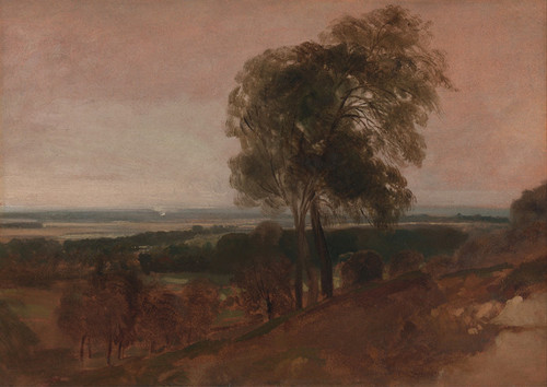 Art Prints of Landscape Study at Sunset by Peter De Wint