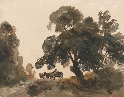 Art Prints of The Wagon by Peter De Wint