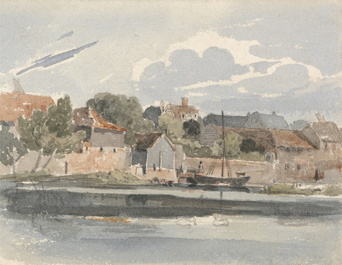 Art Prints of View of the Thames at Kingston by Peter De Wint