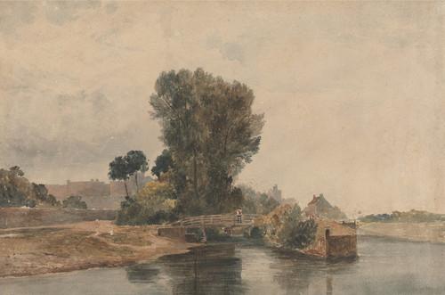 Art Prints of Windsor from Below the Locks by Peter De Wint