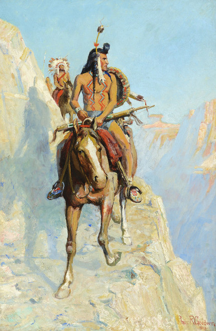Art Prints of Blackfeet Indians on the War Path 1908 by Philip Goodwin