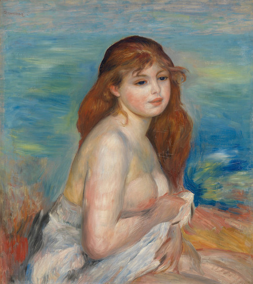 Art Prints of After Bath by Pierre-Auguste Renoir