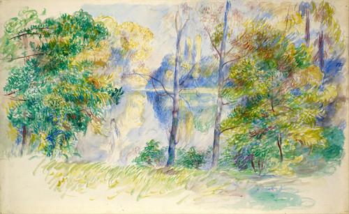 Art Prints of View of a Park by Pierre-Auguste Renoir