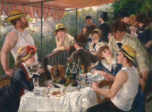 Art Prints of Luncheon of the Boating Party by Pierre-Auguste Renoir