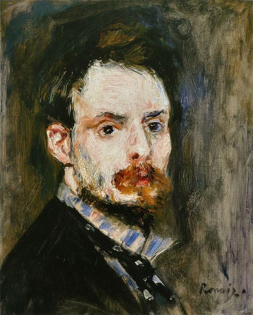 Art Prints of Self Portrait, 1875 by Pierre-Auguste Renoir