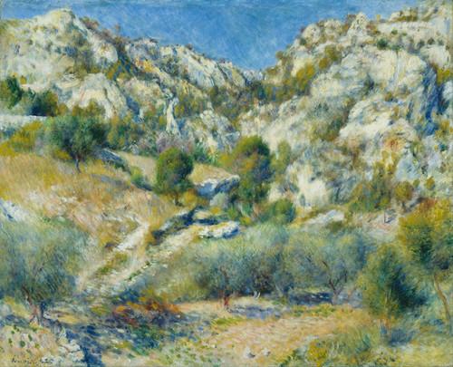 Art Prints of Rocky Crags at L'Estaque by Pierre-Auguste Renoir