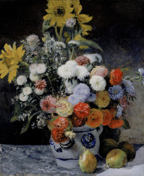 Art Prints of Mixed Flowers in an Earthenware Pot by Pierre-Auguste Renoir